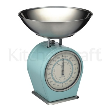 Living Nostalgia Vintage Blue Mechanical Scales