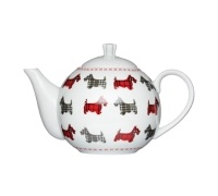 Kitchen Craft Scottie Dog Fine Porcelain 4 Cup Teapot