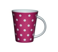 Tazza rosa a pois in porcellana fine