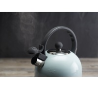 Living Nostalgia Vintage Blue Traditional 1.4 Litre Whistling Kettle