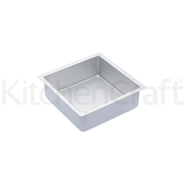 Master Class Silver Anodised 20cm Square Deep Cake Pan