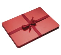 Little Red Robin Set of 4 Red Lacquer Placemats