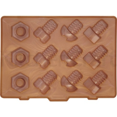 Bar Craft Nuts and Bolts Silicone Ice Cube Tray