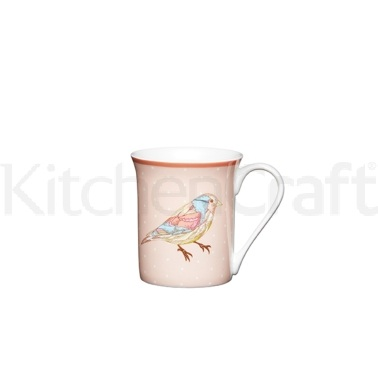 Kitchen Craft Birdcage Fine Bone China Spotty Bird Mug