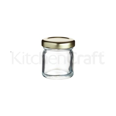 Home Made Mini Glass 43ml Jam Pot