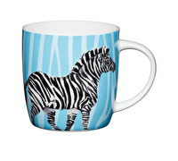 KitchenCraft Set of Four Fine Bone China Zebra Mugs