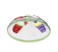 Kitchen Craft Round Fabric Mesh Embroidered Rigid Food Covers
