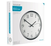 KitchenCraft Stainless Steel 25cm Clock