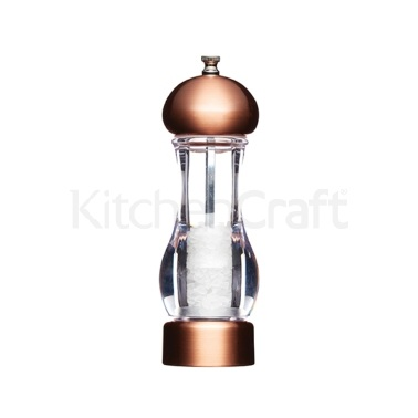 MasterClass Medium Copper Effect Filled Salt Mill
