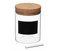 KitchenCraft Natural Elements Small Glass Storage Canister