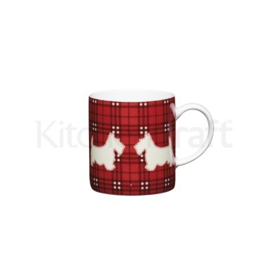 KitchenCraft 80ml Porcelain Scottie Dog Espresso Cup