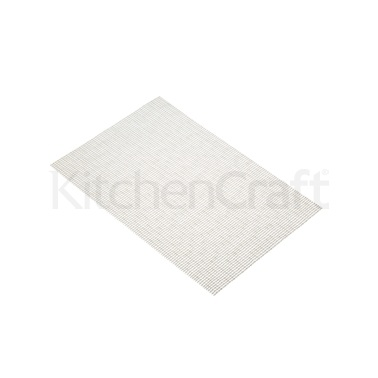 Kitchen Craft Woven Metallic Silver Placemat