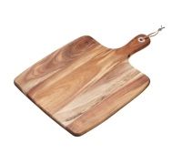 Natural Elements Acacia Wood Square Serving Paddle Board