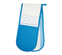 KitchenCraft Jacquard Stripe Double Oven Glove
