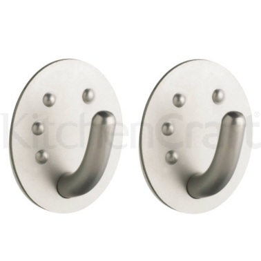 Master Class Set of Two Professional Stainless Steel Oval Hooks