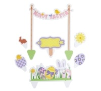 Hoppity Does It Easter Cake Toppers