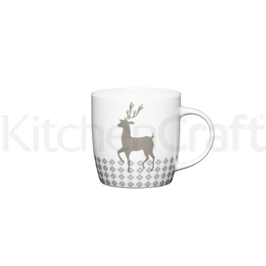 KitchenCraft Fine Bone China Stag Barrel Mug