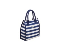 KitchenCraft Lulworth 4 Litre Blue Stripe Lunch / Snack Cool Bag