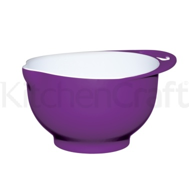 Colourworks Medium Purple Melamine Two Tone Mixing Bowl
