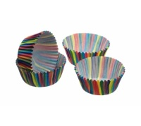 Sweetly Does It Pack of 80 Jazzy Stripe Petit Fours / Treat Cases