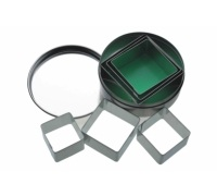 KitchenCraft 6 Square Cookie Cutters With Metal Storage Tin