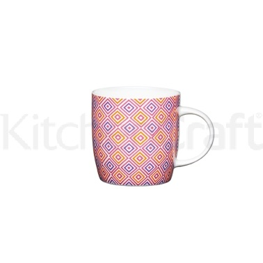 KitchenCraft Fine Bone China Moroccan Tiles Barrel Mug