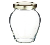 Home Made Glass 370ml Mustard Pot