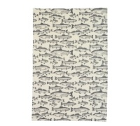 Kitchen Craft Set of 2 Traditional Fish Patterned Tea Towels