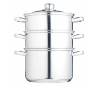 KitchenCraft Stainless Steel Three Tier 20cm Steamer