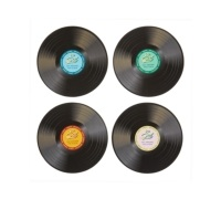 World of Flavours Stateside Pack of 4 Retro Record Coasters