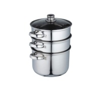 Kitchen Craft Stainless Steel Three Tier 22cm Steamer