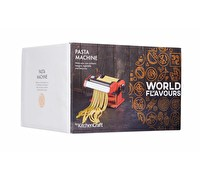 KitchenCraft World of Flavours Red Stainless Steel Pasta Maker