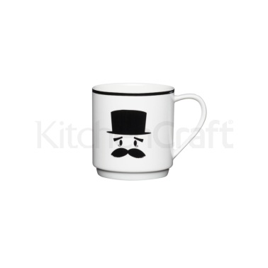 KitchenCraft Bone China Confused Stacking Mug