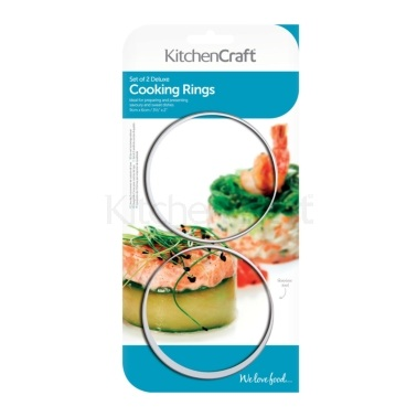 Kitchen Craft Set of Two Stainless Steel Extra Deep Cooking Rings