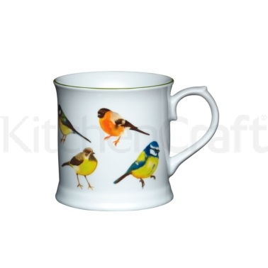 KitchenCraft Fine Porcelain Birds Mug