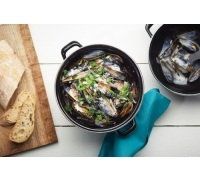 KitchenCraft World of Flavours Mediterranean Standard Mussels Pot