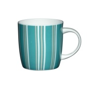 Kitchen Craft Fine Bone China Blue Stripe Barrel Mug