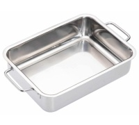 Master Class Stainless Steel Heavy Duty 27cm x 20cm Roasting Pan