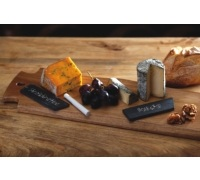 Artesà Appetiser Set of 4 Slate Cheese Markers