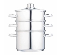 Kitchen Craft Stainless Steel Three Tier 18cm Steamer
