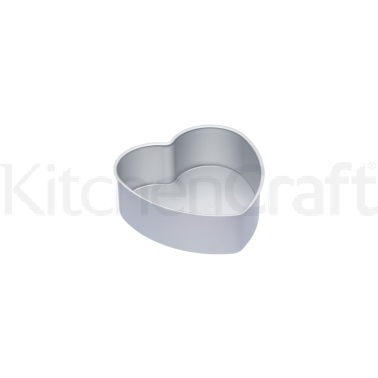 MasterClass Silver Anodised 20cm Loose Based Heart Cake Pan
