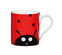 KitchenCraft Set of Four Bone China Ladybird Mini Mugs