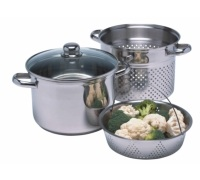 Kitchen Craft Stainless Steel 7.5 Litres Multi Cooker