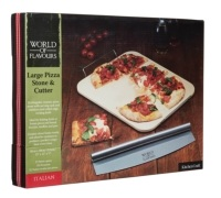 KitchenCraft Italian Large Pizza Stone & Cutter