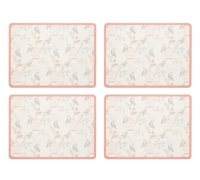 KitchenCraft Birdcage Cork Back Laminated Set of 4 Placemats
