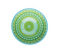 KitchenCraft Green and Yellow Mosaic Effect Ceramic Bowls
