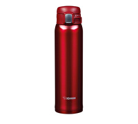 Zojirushi Stainless Steel Clear Red 600ml Non-Stick Vacuum Travel Mug