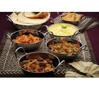 KitchenCraft Indian Stainless Steel Large Balti Dish