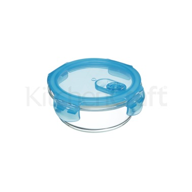 KitchenCraft Pure Seal Glass Round 350ml Storage Container