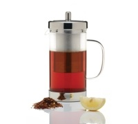 Le'Xpress Stainless Steel and Glass Infuser Teapot
